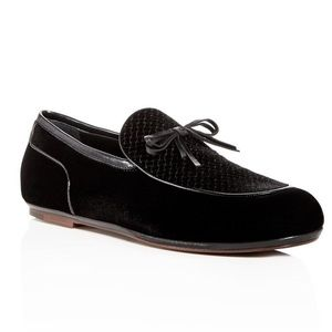 BOTTEGA VENETA Embossed Velvet Apron Toe Loafers